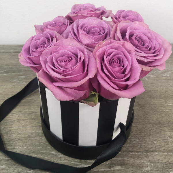 Hat Box of Love 9 Roses