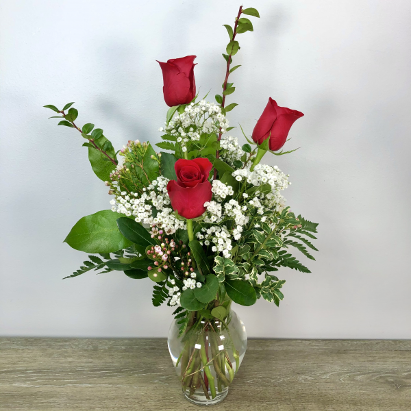 Simple Roses (Vase May Vary)