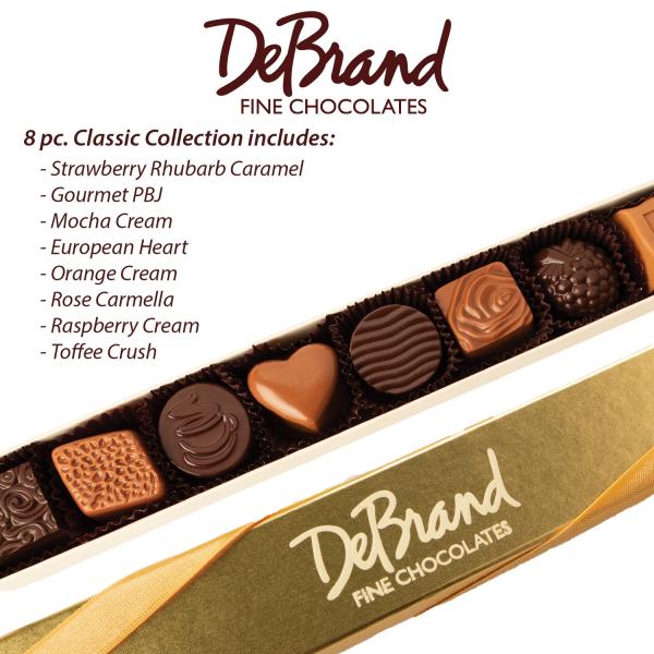 8 Piece DeBrand Chocolates