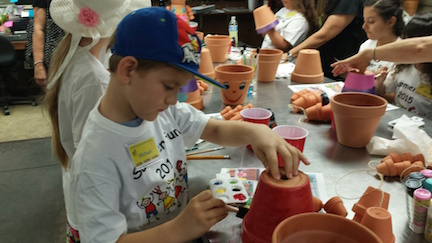 LogCabin Workshop - More Vase Painting