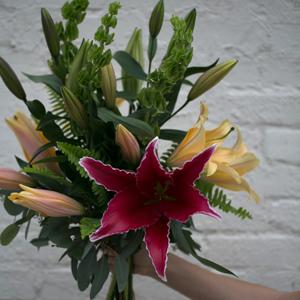 Hand Holding Custom Bouquet