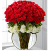 What can you say?  This magnificent display of long stem roses will impress beyond belief.  100 stems of long stem red roses delivered by a real local florist. Please note that the vase style will vary.