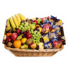 Our Fruit basket tray includes a variety of fresh fruit varieties to please any palette. Please note: items vary daily as we shop individually for our fruit baskets for each order. No two are alike! Items shown should be considered a guide only.