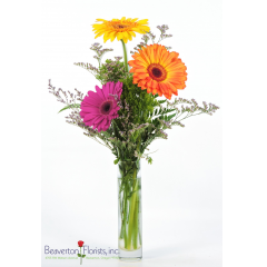 "Say ""Thank you"" with this classic! Gerbera Daisies are the centerpiece of this wonderful way to express how much they are appreciated."