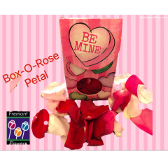 Our themed box of rose petals for Valentines Day.  Great add on gift to any floral bouquet