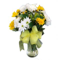 "It's a daisy day ....and a perfect way to say ""Thanks""!  The Upsy Daisy is a great long lasting arrangement perfect for a variety of occasions including Administrative Professionals Week .  It is also a great ""pickup me up"" bouquet to lift someones spirits."