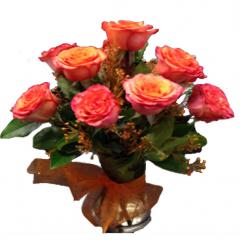 A vibrant arrangement of Orange roses.