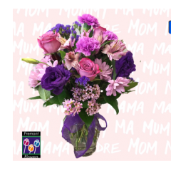 This beautiful vase includes lavender daisys, purple carnations, lavender alstroemeria, lavender roses and pink wax flower, accented with statice and lisianthus.