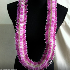 Open Orchid Lei.... these handmade leis are custom made to order.  Must be ordered several days in advance and are subject to availability.