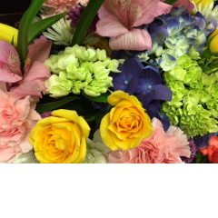 The Designer Choice bouquet at Fremont Flowers. During busy holidays, such as Mother's Day, our product varies greatly as we approach the holiday.   Our floral designers have over 32 years experience...and can design a fresh bouquet of flowers in a vase using seasonal fresh florals.  Let the designer do what he or she does best, create a unique bouquet of outstanding value allowing their creative talents to manifest themselves in your floral gift.  With the Designer Choice, specific flowers or designs can not be specified.