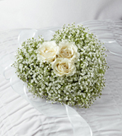 The Splendid Grace™ Casket Adornment is a sweet and elegant tribute to a life well-lived. A perfect remembrance presented from the children of the family, this casket adornment consisting of three white spray roses surrounded by baby's breath, will add to the beauty and grace of their memorial service.