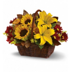 Golden Days Basket - As Shown