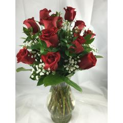 One Dozen Red Roses - As Shown