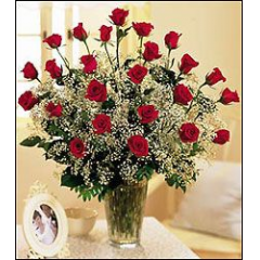 Two Dozen Long-Stemmed Roses Arrive With Lush Greens, Beautiful Filler Flower And Tied With A Gorgeous Bow. Call For Rose Colors.