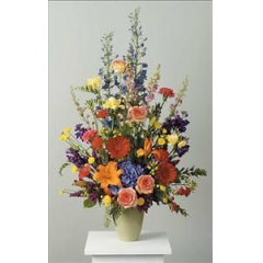 A Beautiful Assortment Of Vibrant Spring Flowers. Perfect For The Person Who Loved Their Garden.
