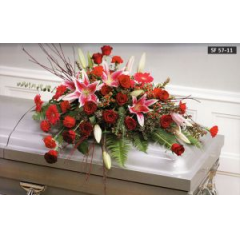 One Of Our Most Popular Casket Covers, Perfect To Send For A Man Or A Lady.
