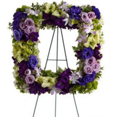 This Beautiful Stand Is Perfect To Frame One Of Your Special Photos. Shown In Purple And Green But Can Be Arranged In Your Favorite Colors.