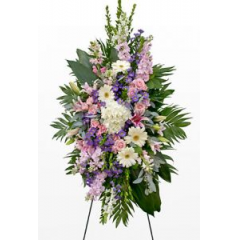 A Beautiful Tribute Filled With A Large Assortment Of Stock,Hydrangea,Gerbs/Roses And Lilies.