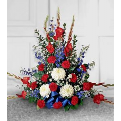 A Beautiful Tribute To Someone Who Respected The Red White And Blue.