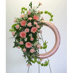 This Lovely Wreath Can Be Made In Your Favorite Colors. Shown As All Pink And White With A Green Accent.