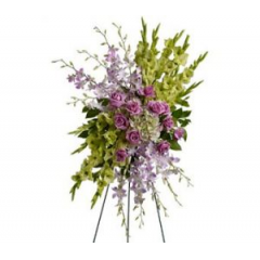 Fabulous Describes This Elegant Design Of Glads/Hydrangea And Orchids On A Stand. Lovely!