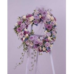 LAVENDER ROSE HEART STANDING SPRAY