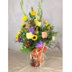 A large grand bouquet designed with a  beautiful collection of our premium California grown blossoms! This arrangement is often on display at the information center at the Outlets at Tejon parkway.  **CONTAINER MAY VARY**