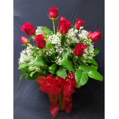 LONG STEM ROSES ARE A TIME HONORED SYMBOL OF LOVE AND APPRECIATION. TELL SOMEONE HOW VERY SPECIAL THEY ARE WITH THIS BEAUTIFUL BOUQUET. ASK ABOUT OUR 2 OR 3 DOZEN ROSE ARRANGEMENTS TOO!