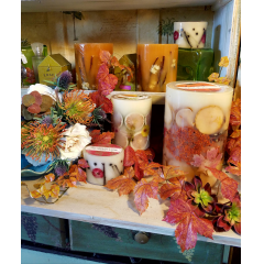 THEY ARE HERE! ROSEY RINGS CANDLES HAVE ARRIVED JUST IN TIME FOR FALL. SEVERAL SIZES AND FRAGRANCES TO CHOOSE FROM. CALL NOW AND WE WILL BE HAPPY TO SPECIAL ORDER FOR YOUR HOLIDAY GIFT WISH LIST!