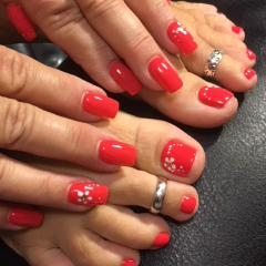 LET MICHELLE PAMPER THAT SPECIAL SOMEONE WITH A MANICURE, PEDICURE OR REALLY WOW HER WITH  A GIFT CERTIFICATE FOR THE FULL PACKAGE!.MICHELLE IS BOARD CERTIFIED AND VERY ARTISTIC.THIS PACKAGE IS THE PERFECT ADDITION TO ONE OF OUR UNIQUE FLORAL DESIGNS.