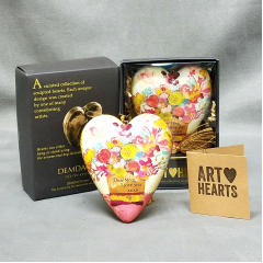 Art Hearts are a beautiful way to say I love you! Add one to your flowers. It will be a keepsake gift she will always cherish.