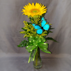 Let your staff at work know how much you appreciate them with a cute desk top arrangement. Perfect to acknowledge a Birthday or company anniversary. This can be set up as a standing order so you never have to remember dates again, just leave it to us at Log Cabin Florist! Call today and we will take all of the stress out of ordering and you will be a hero at the workplace!