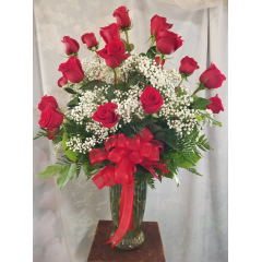 A Grand Bouquet of 24 Roses while make a big statement for that special someone!