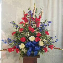 "A Beautiful Tribute To Someone Who Respected The Red White And Blue. Approx. 31""H x 35""W"