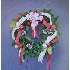 Our Annual Christmas Wreath Design your own wreath Class is here!! Classes are Monday, Dec 9th @ 6pm & Saturday, Dec 14th. @ 10am or 2pm. Come join us in the fun and festivities!! Call 661-327-8646 for reservations
