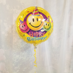 "Fun way to say ""Happy Birthday"" is our nice selections of Happy Birthday mylar balloons. **Balloon style may vary**"