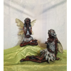 "Our whimsical bronze fairies would make a good addition for anyone that loves fairies. (Only have 2 of each fairy in stock) Approx 12""High"