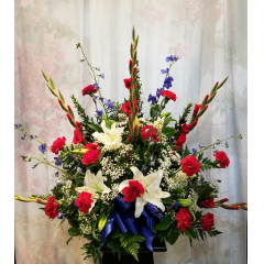 """A Beautiful Tribute To Someone Who Respected The Red White And Blue. Approx. 31""""H x 35""""W"""