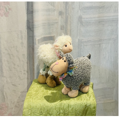 """These adorable Sheep or Lamb plush would be a great addition to any bouquet or plant. Approx 8""""H (We have 3 Sheep & 2 lambs in stock)"""