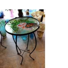 DiBella Flowers & Gifts Las Vegas - Glasstop Garden Deco Table- Butterfly and Flowers