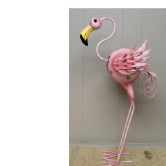 DiBella Flowers & Gifts Las Vegas - Flamingo Figurine- Metal figure measuring approximately 3 feet tall.