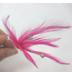 DiBella Flowers & Gifts Las Vegas - Elegant feathers with rhinestones to create the perfect look.  Completely customize your Corsage and Boutonniere. * Price per piece