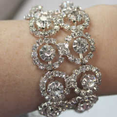 DiBella Flowers & Gifts Las Vegas - Diamond Halo Wristlet to accent your corsage! Can be later used as a bracelet.