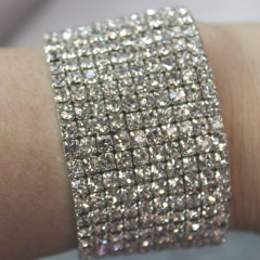 DiBella Flowers & Gifts Las Vegas - Thick Diamond Bling Wristlet to accent your corsage! Can be later used as a bracelet.