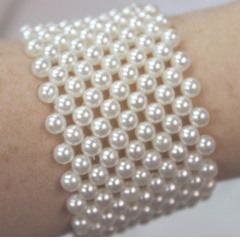 DiBella Flowers & Gifts Las Vegas - White Pearl Wristlet to accent your corsage! Can be later used as a bracelet.