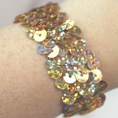 DiBella Flowers & Gifts Las Vegas - Gold Sequins Wristlet to accent your corsage!  Can be later used as a bracelet.