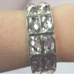 DiBella Flowers & Gifts Las Vegas - Silver Solid Diamond Wristlet to accent your corsage!  Can be later used as a bracelet.