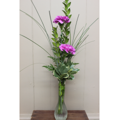 DiBella Flowers & Gifts Las Vegas - Double Carnation Budvase.  * If no color is chosen, nicest available will be picked.