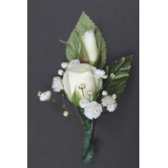 DiBella Flowers & Gifts Las Vegas - Spray Rose Boutonniere *please pick color or white will be selected. **Ribbon loop can be added