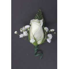 DiBella Flowers & Gifts Las Vegas - Single Rose Boutonniere  * Please choose color! Will come as White if no color is selected! **Ribbon loop can be added